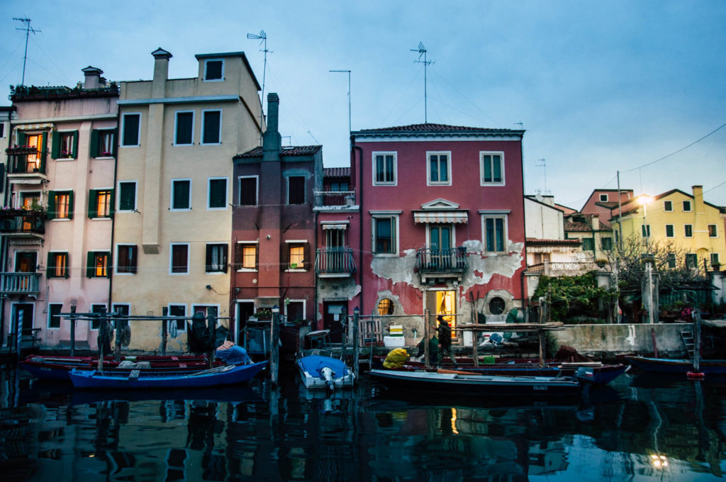 Malownicza Chioggia wieczorem