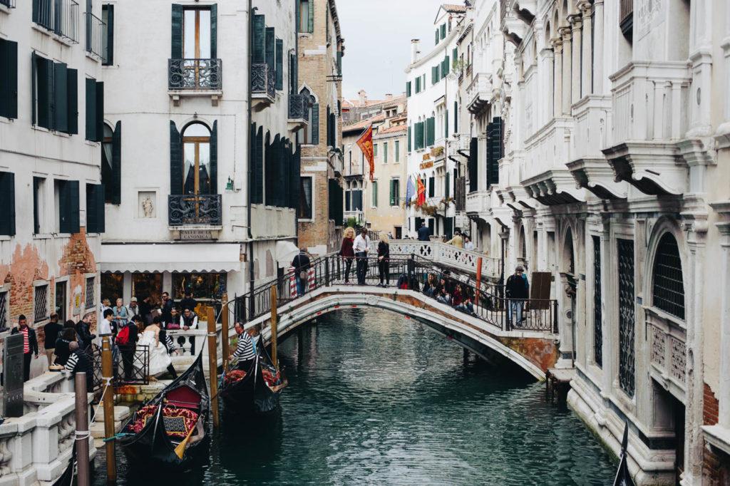Niezliczona ilość mostów w Wenecji